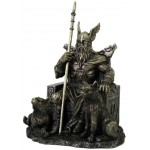 Odin the All-Father Norse God with Wolves Statue