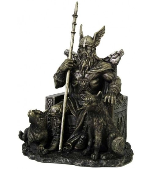 Odin the All-Father Norse God with Wolves Statue at Scifi Collector,  Scifi Toys, Collectibles, Games | Movies, TV, Marvel, Star Wars, Star Trek, Firefly