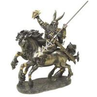 Odin on Horseback Norse God Bronze Statue