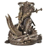 Thor, Norse God Slaying Dragon Statue