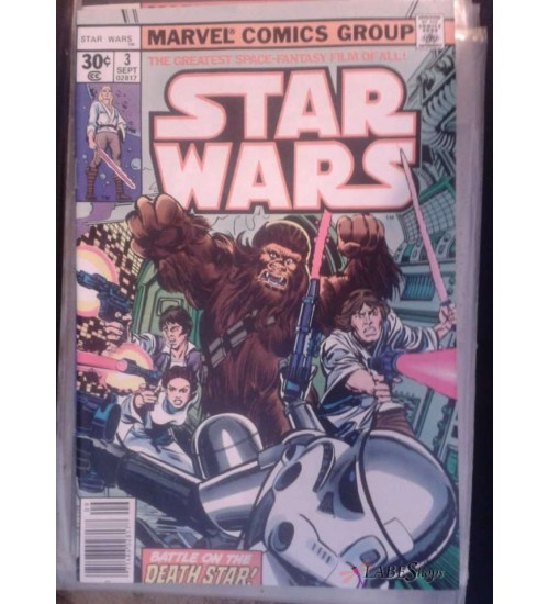 Star Wars issue 3 - 1977 Marvel First Printing, Near Mint at Scifi Collector,  Scifi Toys, Collectibles, Games | Movies, TV, Marvel, Star Wars, Star Trek, Firefly