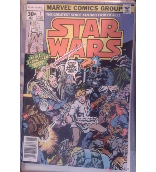 Star Wars issue 2 - 1977 Marvel First Printing, Near Mint at Scifi Collector,  Scifi Toys, Collectibles, Games | Movies, TV, Marvel, Star Wars, Star Trek, Firefly