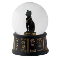 Bastet Egyptian Cat Water Globe