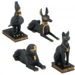 Egyptian Animal God 4 Piece Statue Set