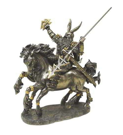 Odin on Horseback Norse God Bronze Statue at Scifi Collector,  Scifi Toys, Collectibles, Games | Movies, TV, Marvel, Star Wars, Star Trek, Firefly