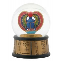 Khepri Winged Scarab Egyptian Water Globe