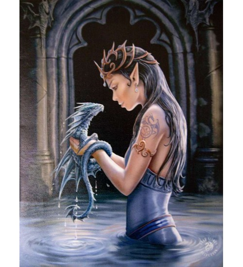 Water Dragon Canvas Art Print at Scifi Collector,  Scifi Toys, Collectibles, Games | Movies, TV, Marvel, Star Wars, Star Trek, Firefly