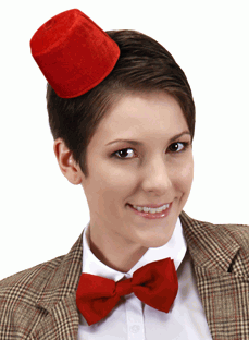 Doctor Who Mini Fez and Bow Tie Set
